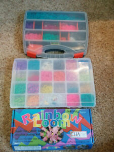 Rainbow Loom set, with extra elastics and charms, $15