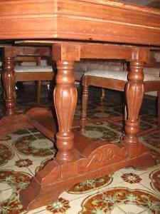 antique classic 1930s dining room table set Windsor Region Ontario image 6