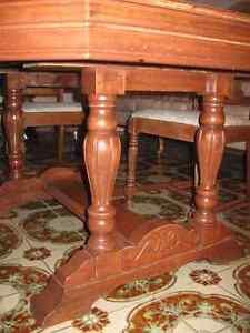antique classic 1930s dining room table set Windsor Region Ontario image 6