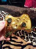 Manette xbox360 custom gold a vendre