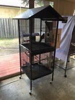 Large Double Bird Cage with Removable Divider