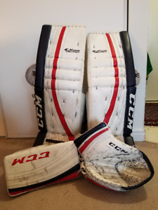 CCM Eflex 35+1.5 pads, blocker and catcher
