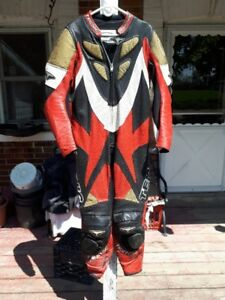 Men's size 46 Teknic one piece leather racing suit.