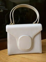 Vintage Purse - Ivory pearl patent leather