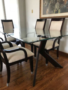 Wood & Glass Dining Set