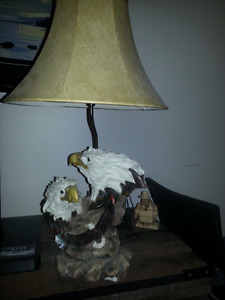 Eagle Lamp and 2 Eagle prints for Sale