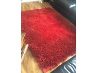 Large pile hand made red rug rrp£400