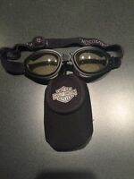 Harley Davidson unisex collapsible riding goggles with pouch