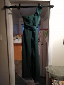 Davids Bridal Bridesmaid dress size 0 forest green/robe verte