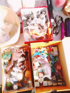 Boxes of small toys