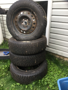 Tire rims and 4 winter tires