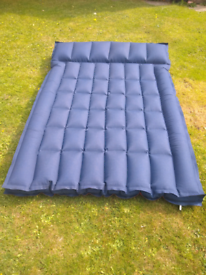 Canvas, double, camping air bed