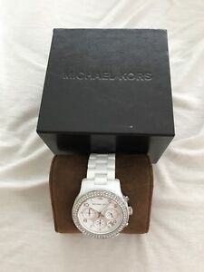 Womens ceramic Michael Kors Watch