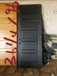 Solid Wood Door, Very Heavy! 36 1/4x96 Dark Black Stained Door