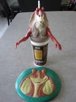 Star Wars 1999 Jar Jar Binks Pepsi Cup & KFC Bucket Topper