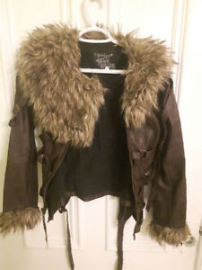 Against Society Faux leather and Fur jacket Small $80 OBO