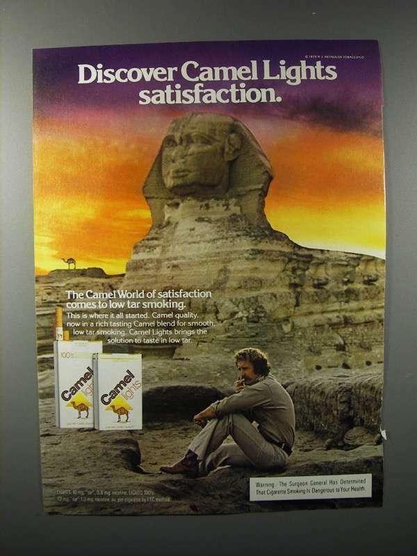 1979 Camel Lights Cigarette Ad - Discover