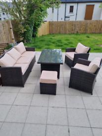 SOLD Rattan garden furniture
