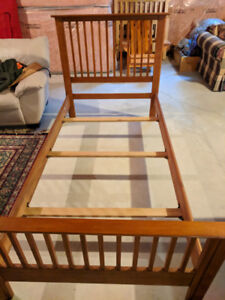 Maple Wood Twin Bed Frame