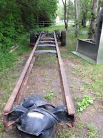 Truck frame and steer axle