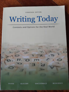 RN/RPN Text Books: Writing Today Canadian Addition