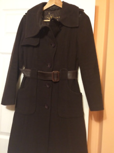 Mackage wool Cashmere Blend brown women's coat