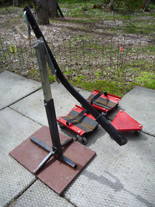 3 Piece Snowmobile Dolly Set plus Snowmobile Lever Lift Stand