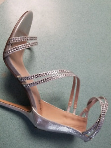 New silver shoes size 7.5