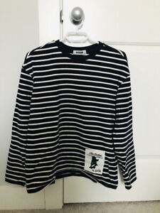 Navy Stripped Long Sleeve T-shirts