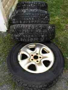 225/70/16 Winter Tires and Rims