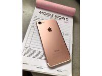 Iphone 7 Rose Gold 128gb unlocked 12 month Apple warranty