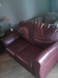 Leather Love Seat Windsor Region Ontario image 1