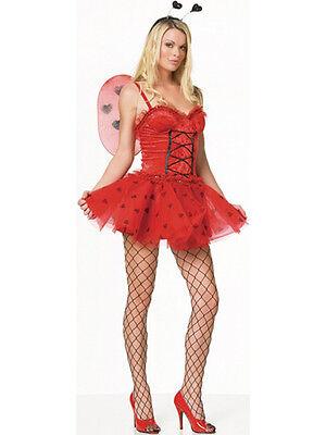 Adult 8-18 Love Bug Ladybird Outfit Fancy Dress Costume Fairy Lady Bird Womens