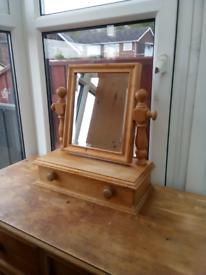 A pine mirror