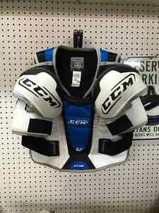 Hockey pants, elbow pads and shoulder pads