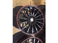 "18"" WOLFRACE ALLOY WHEELS ASTRA VECTRA ZAFIRA MK4 GOLF BORA CELICA BETTLE TT"