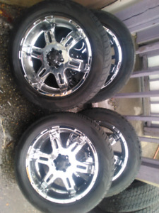 """Fire sale 20"""" rims and toyo proxes tires fits dodge Dakota"""