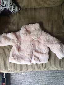 3-6M fur jacket