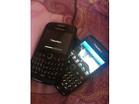 Blackberry bold and curve.