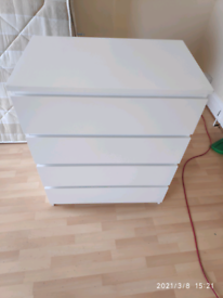 Ikea-4 chest of drawers, white