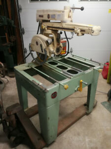 Vintage industrial woodworking machinery
