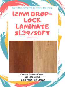 SPRING SAVING: DROP LOCK 12MM LAMINATE STARTS FROM $1.39/SQFT !