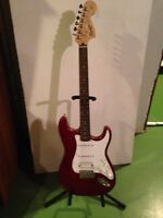 Red fender squire Strat