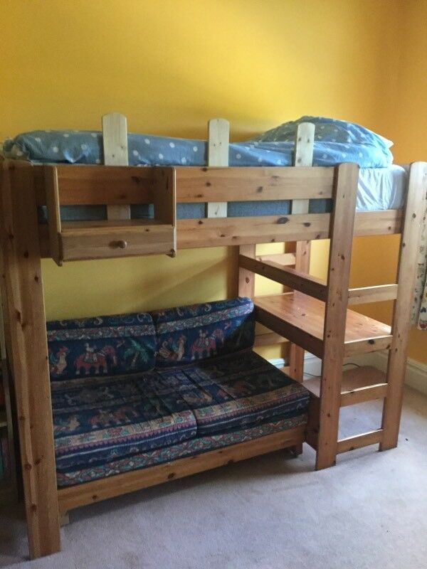 Superb Stompa High Sleeper Bunk Bed With Double Sofa Bed And Desk With Drawers In Copmanthorpe North Yorkshire Gumtree Bralicious Painted Fabric Chair Ideas Braliciousco