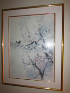 "Brent Heighton, ""Spring Blossoms"", signed print. 28""w x 36"" h."