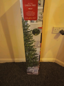 6ft pre lit Christmas tree xmas