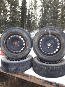 4 Pirreli Winter Tires on rims