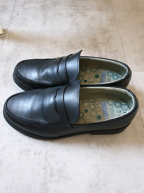 Boys black leather loafer/formal school shoes, size 3, Next, NEW