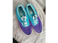 Purple and blue vans size uk 4