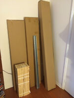 Ikea Malm Double size Low Bed Frame Lit in Medium Brown NEW